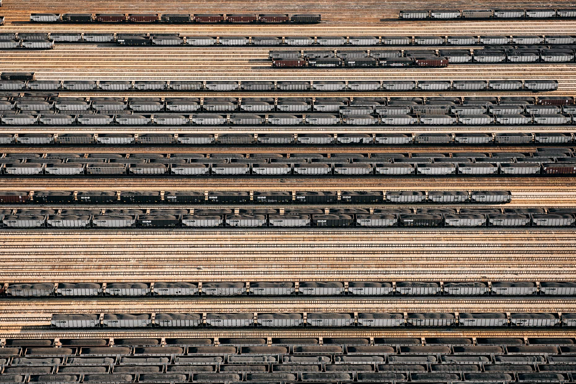 Aerial Coal Trains in Virginia