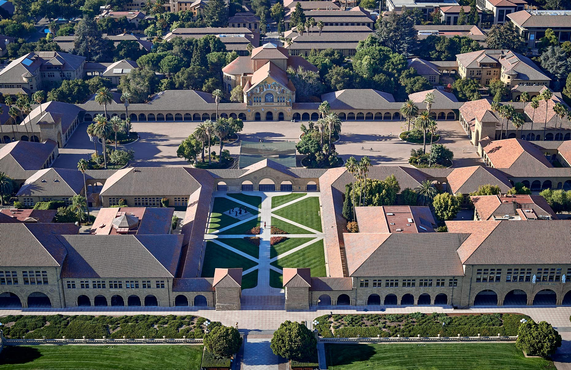 Aerial Stanford Univery National Geographic